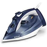 Philips PowerLife Steam Iron 2400W with SteamGlide Soleplate, 2400W, 150g Steam Boost, Dark Blue, GC2996/20