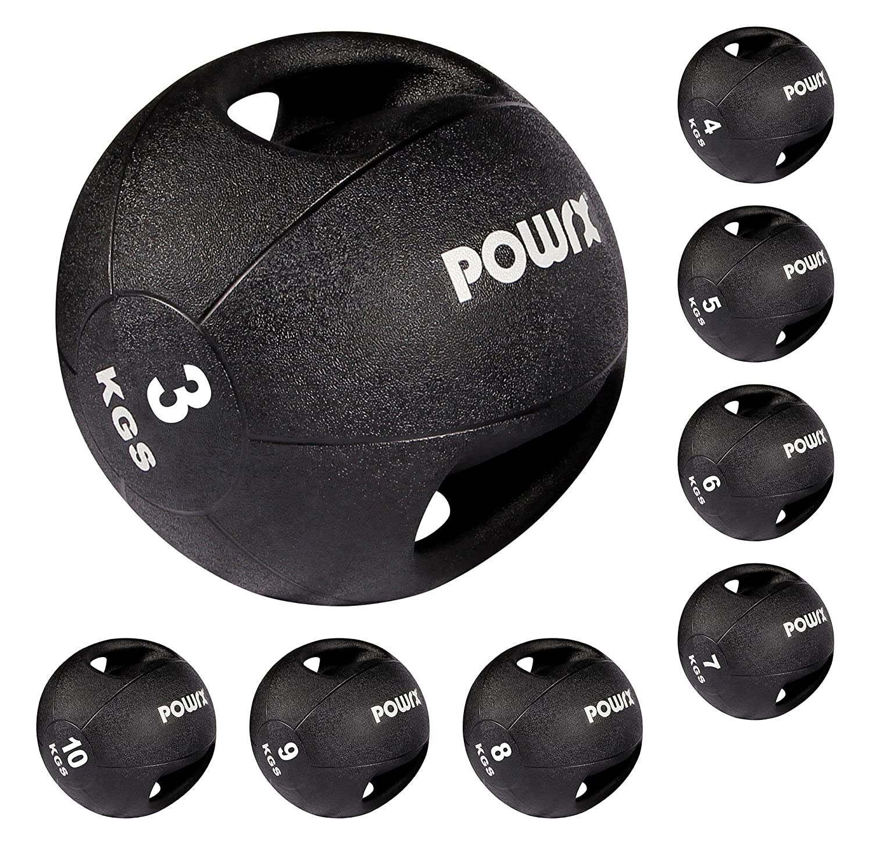 POWRX Balón medicinal con asas kg Ideal para la práctica del cross