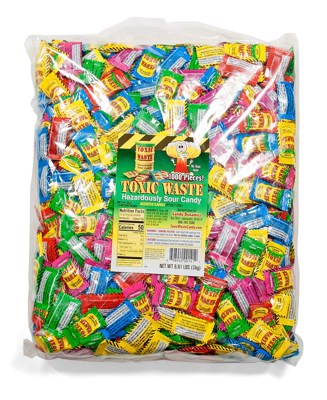 TOXIC WASTE Bulk Poly Bag, Assorted Flavors, 8.0 Pound by TOXIC WASTE