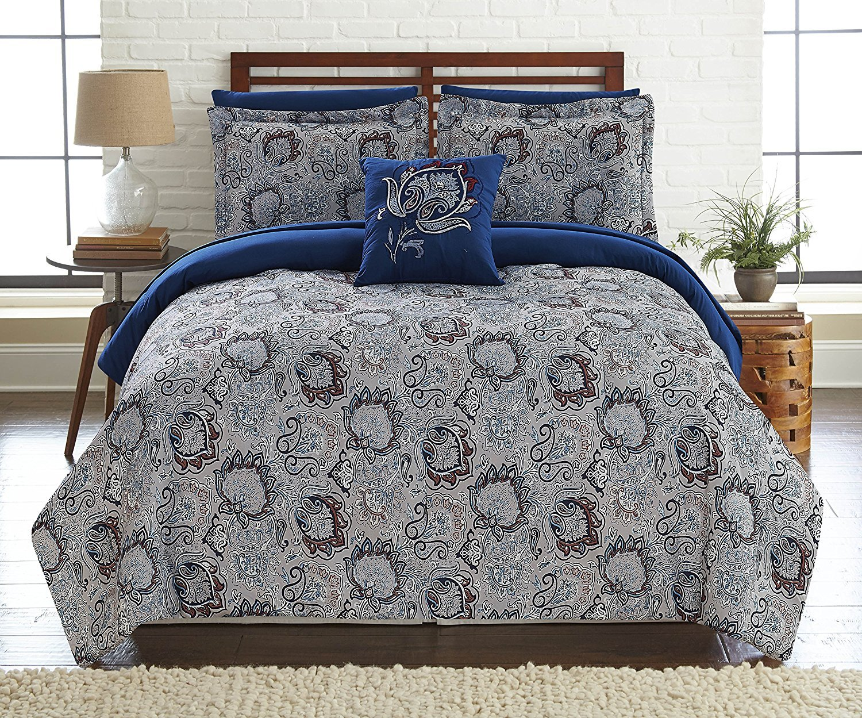6 – または – 8点リバーシブル掛け布団セット、ウルトラソフト&低刺激性Complete Bedding Set by Pacific Coast Textiles キング 4BDSTPRTG-CRC-KG B06Y3NYYYK キング|Corsicana Corsicana キング
