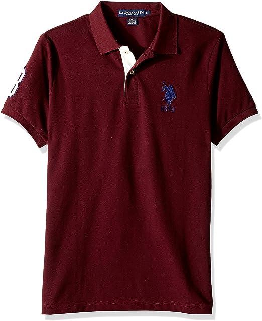 U.S. Polo Assn. Mens Short-Sleeve Polo Shirt with Applique ...
