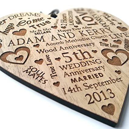 Lovethis Wedding Anniversary Plaque Personalised Gift Marriage
