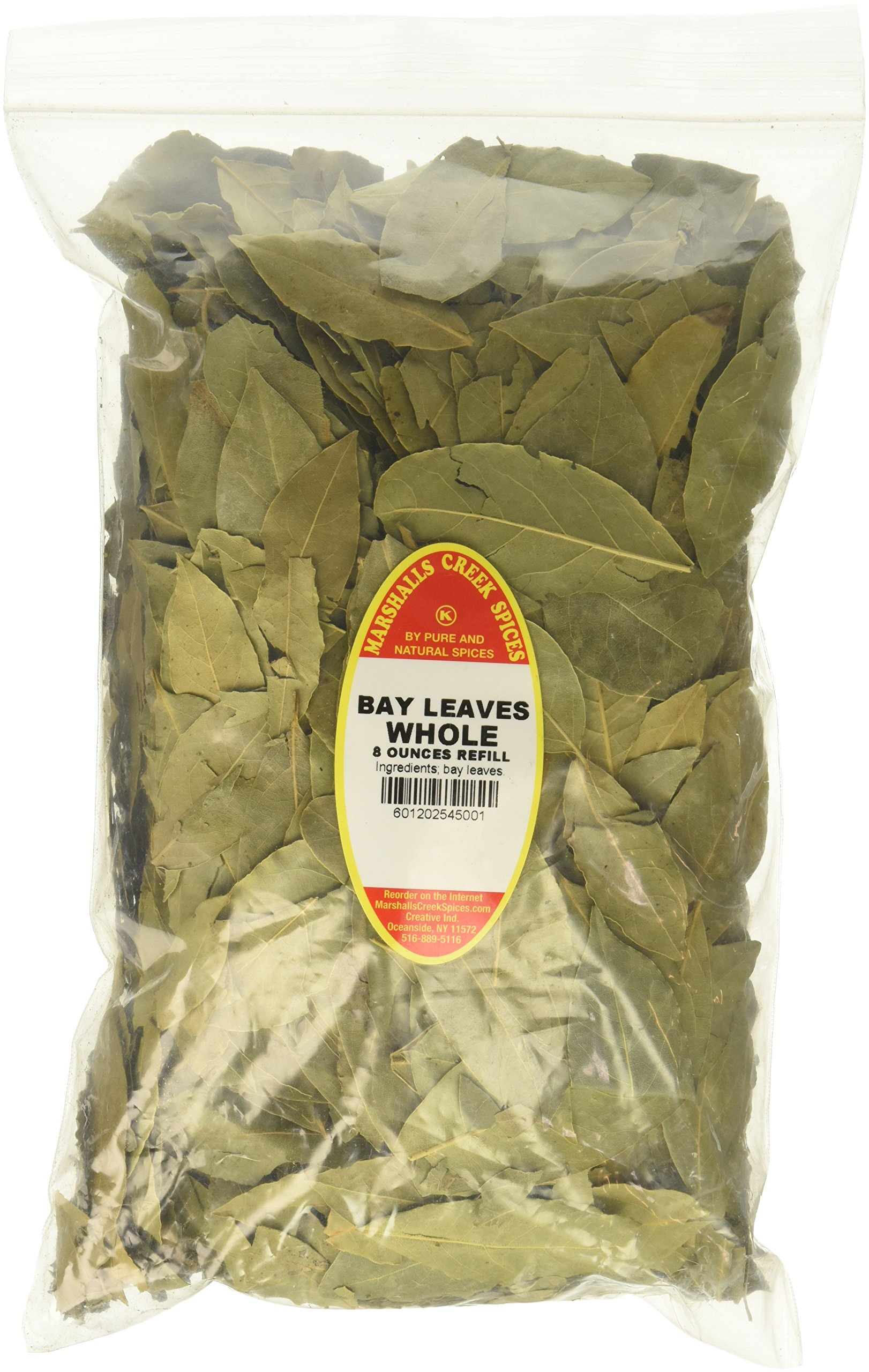 Marshalls Creek Spices Family Size Kosher Whole Laurel Bay Leaves Refill, 8 Ounce