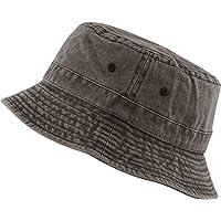 THE HAT DEPOT 100% Cotton Canvas Packable Summer Travel Bucket Hat