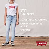Levi's Girls' 711 Skinny Fit Jeans , Bleach Out, 8