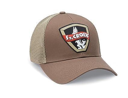 1e9b3b86364ea Amazon.com   St Croix Retro Musky Logo Trucker Fishing Cap (Brown ...