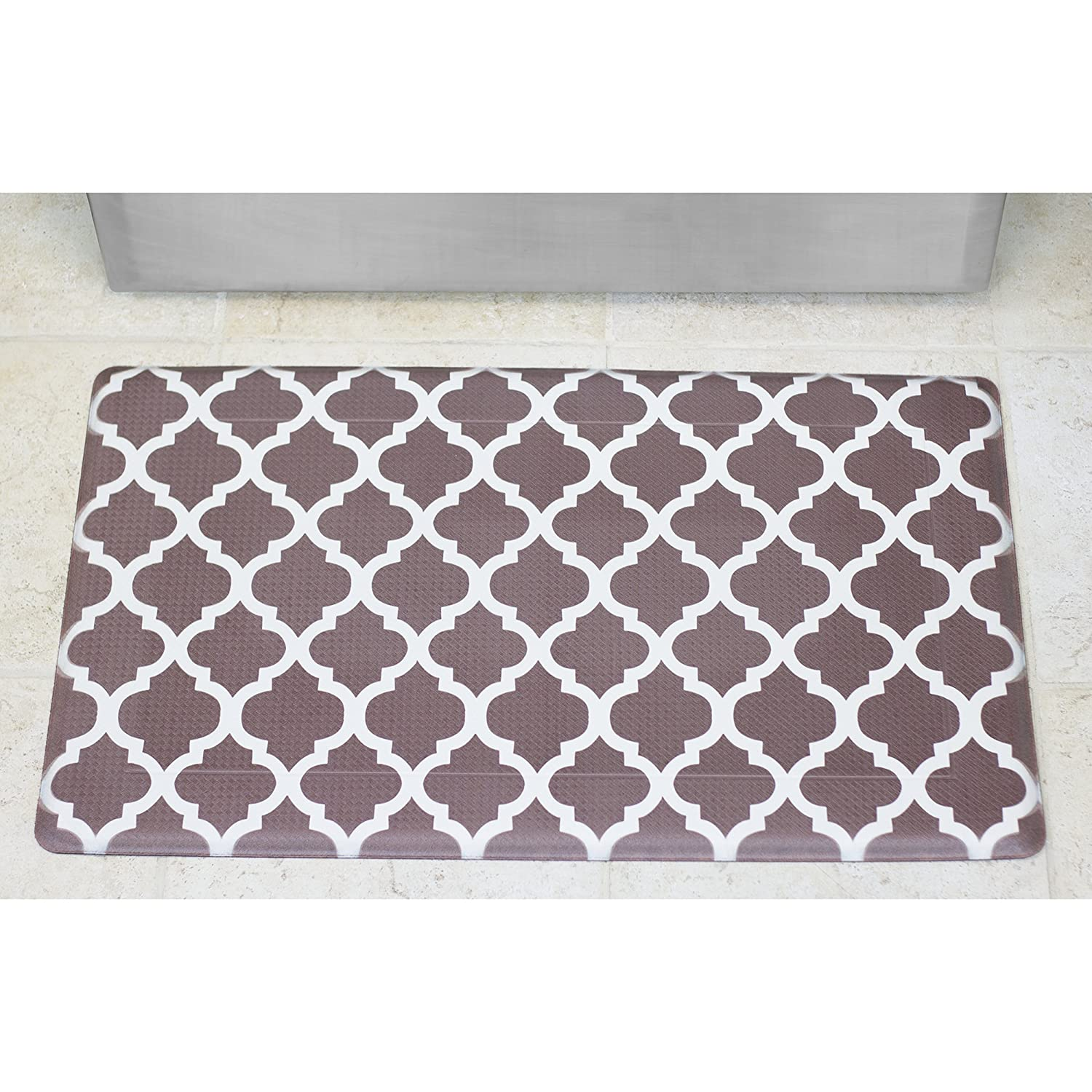 Amazon.com: Chef Gear Quatrefoil Anti-Fatigue Comfort Memory Foam ...