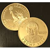 Donald Trump 2016 GOLD Presidential Liberty Novelty Coin