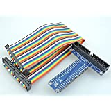 [Sintron] T-Cobbler Plus 40 Pin GPIO Extension Board with 40 Pin Rainbow Color Ribbon Cable for Raspberry Pi 1 Models A+ and B+, Pi 2 Model B, Pi 3 Model B and Pi Zero