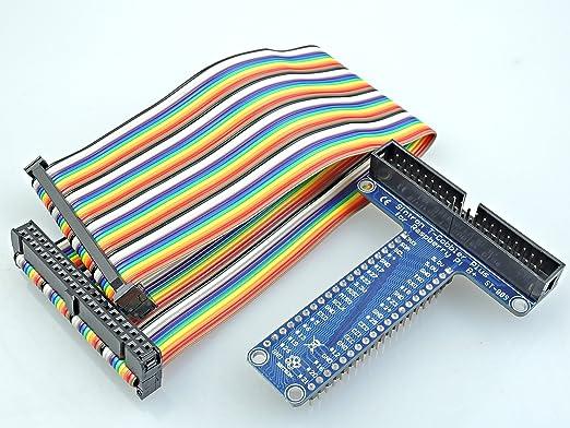 5 opinioni per [Sintron] T-Cobbler Plus 40 Pin GPIO Extension Board with 40 Pin Rainbow Color