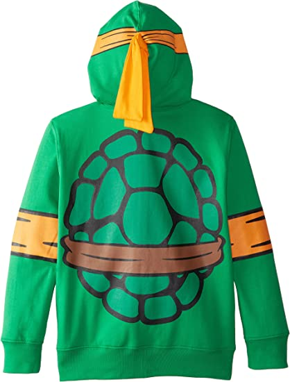 Nickelodeon Big Boys Teenage Mutant Ninja Turtles Costume Hoodie, Shell Green, Medium