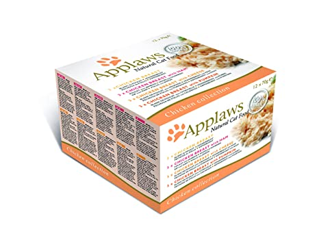 Applaws Comida humeda para Gatos Gato Lata Multi Pollo 12x70 gr