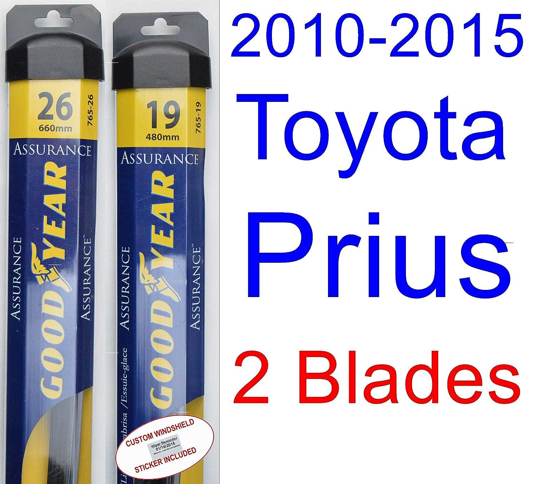 2010 - 2015 Toyota Prius Set de limpiaparabrisas de repuesto (cuchillas de limpiaparabrisas Goodyear Assurance) (2011,2012,2013,2014): Amazon.es: Coche y ...