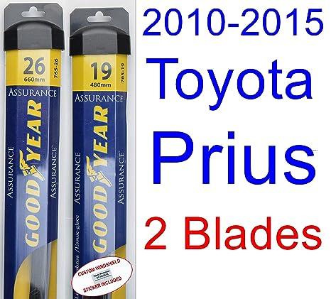2010 – 2015 Toyota Prius Set de limpiaparabrisas de repuesto (cuchillas de limpiaparabrisas Goodyear Assurance