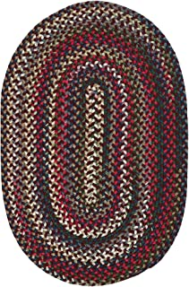 product image for Colonial Mills Aurora Reversible Braided Accent Rug (2' x 3') Amber Rose Red, Blue, Natural