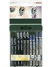 Bosch 2 609 256 746 - Juego de hojas de sierra de calar de 10 piezas vástago en T