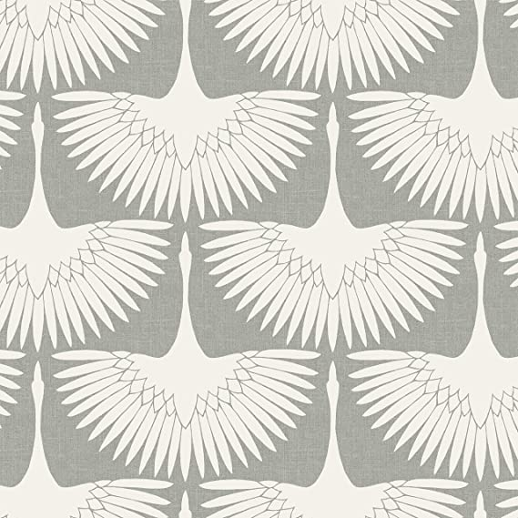 Tempaper Fe4023 Feather Flock Removable Peel And Stick Wallpaper 28 Sq Ft Chalk Amazon Com