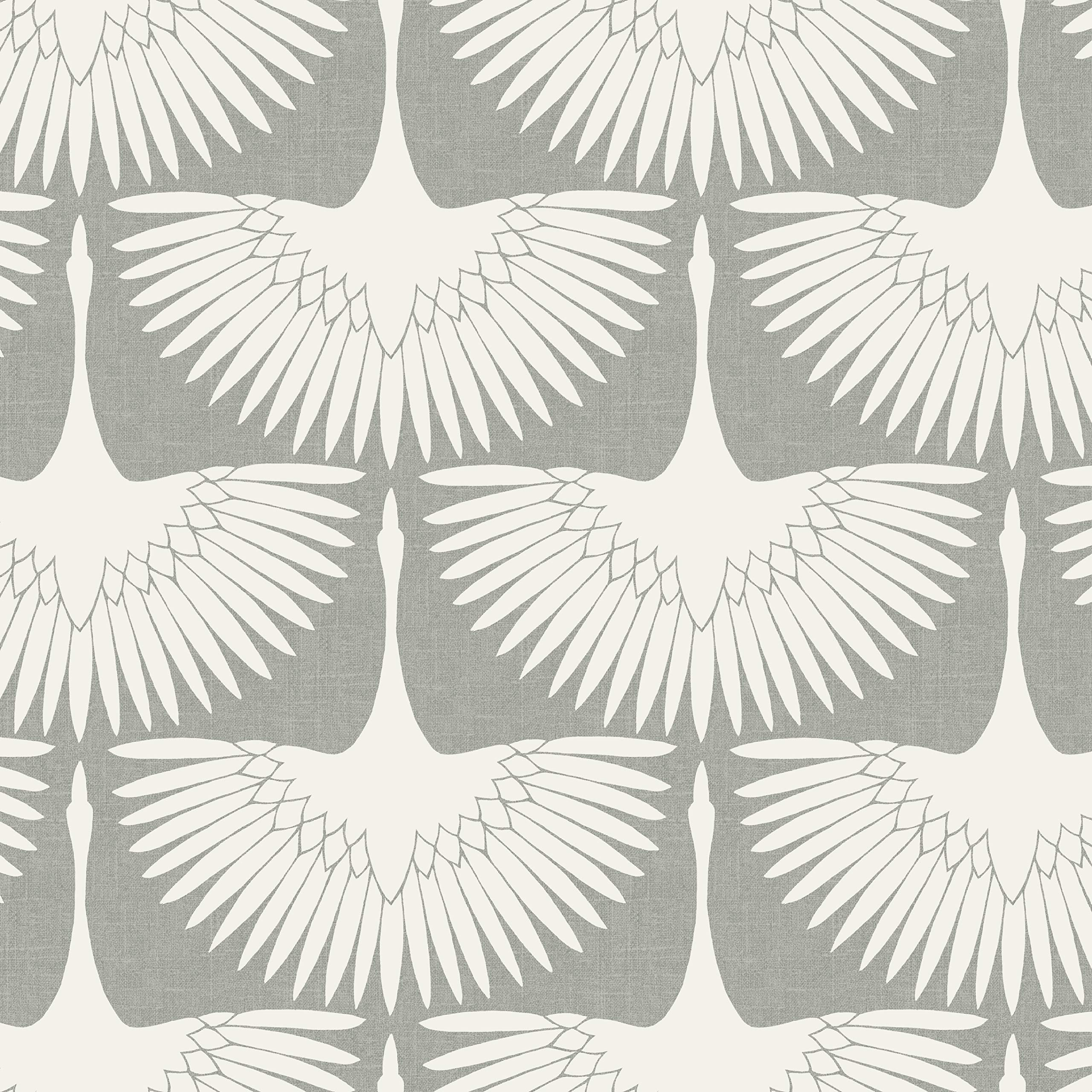 Tempaper Chalk  Feather Flock | Designer Removable Peel and Stick Wallpaper by Tempaper