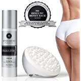 Anti Cellulite Cream and Anti Cellulite Massager by CellulitiX - Clinically Proven Cellulite Treatment Developed by Plastic Surgeons and Pharmacists - Natural Thigh and Buttock Skin Tightening Cream