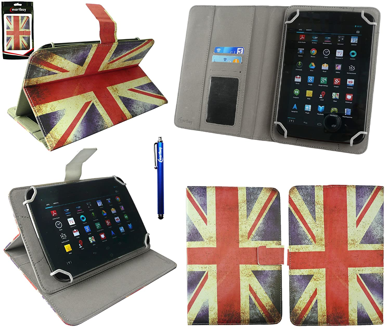 Emartbuy® Bq Edison 3 Mini 8 Inch Tablet Universal Range Union Jack Ángulo Múltiples Executive Folio Funda Carcasa Wallet Case Cover Con Tarjeta de ...