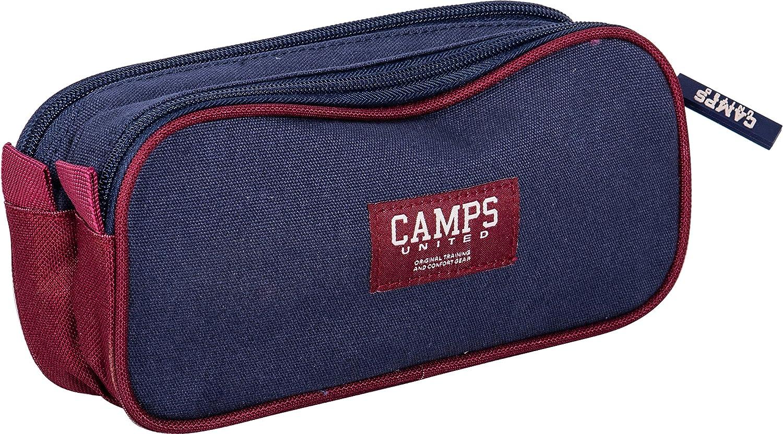 Trousse Double Compartiment Bleu Teddy Camps KIDABORD
