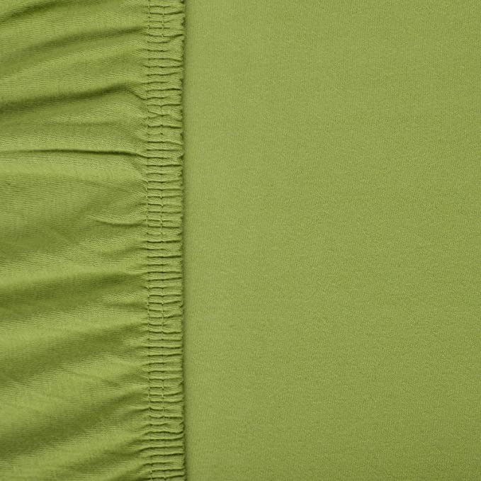 aqua-textil Viana sábana Bajera Ajustable, algodón, Verde, 90x200 bis 100x200 cm: Amazon.es: Hogar