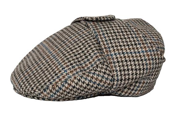 e594d30b524 KANGOL TWEED BUGATTI CAP HAT  HOUNDSTOOTH  (Small)  Amazon.co.uk  Clothing