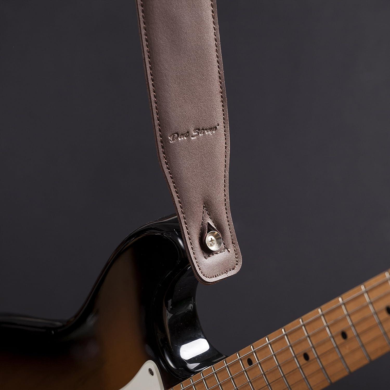 Dat Strap #1 Correa de Guitarra de Cuero para Guitarra Eléctrica, Acústica, Electroacústica, Bajo y Clásica | Acolchada Para un Mayor Confort | Color Marron ...