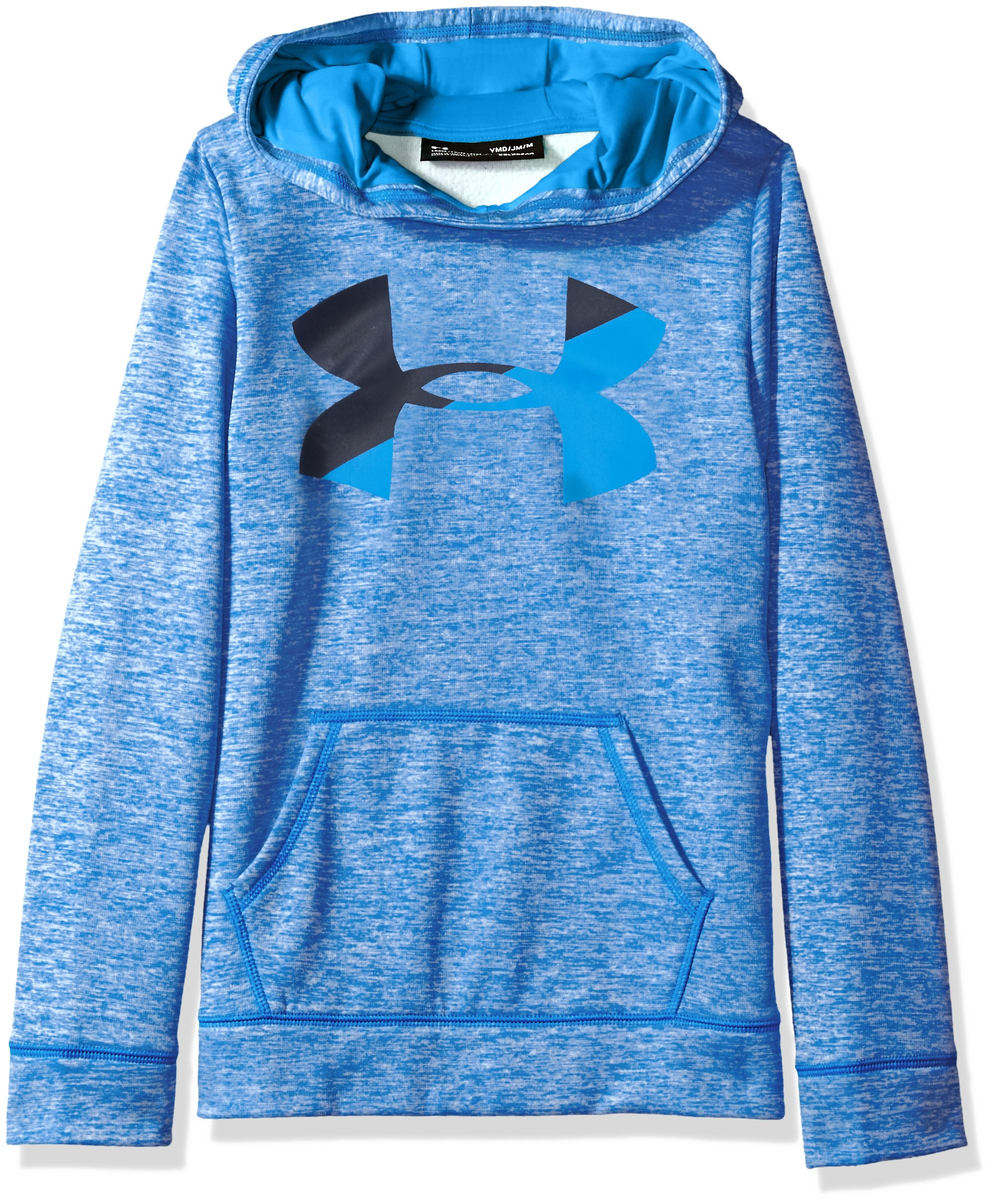 Under Armour Girls Fleece Big Logo Novelty Hoodie,Lapis Blue /Mako Blue, Youth X-Large by Under Armour