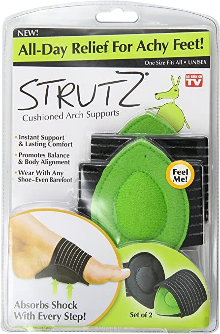 Amazon.com: Ontel Strutz Cushioned Arch Supports, Green, 2 Count ...