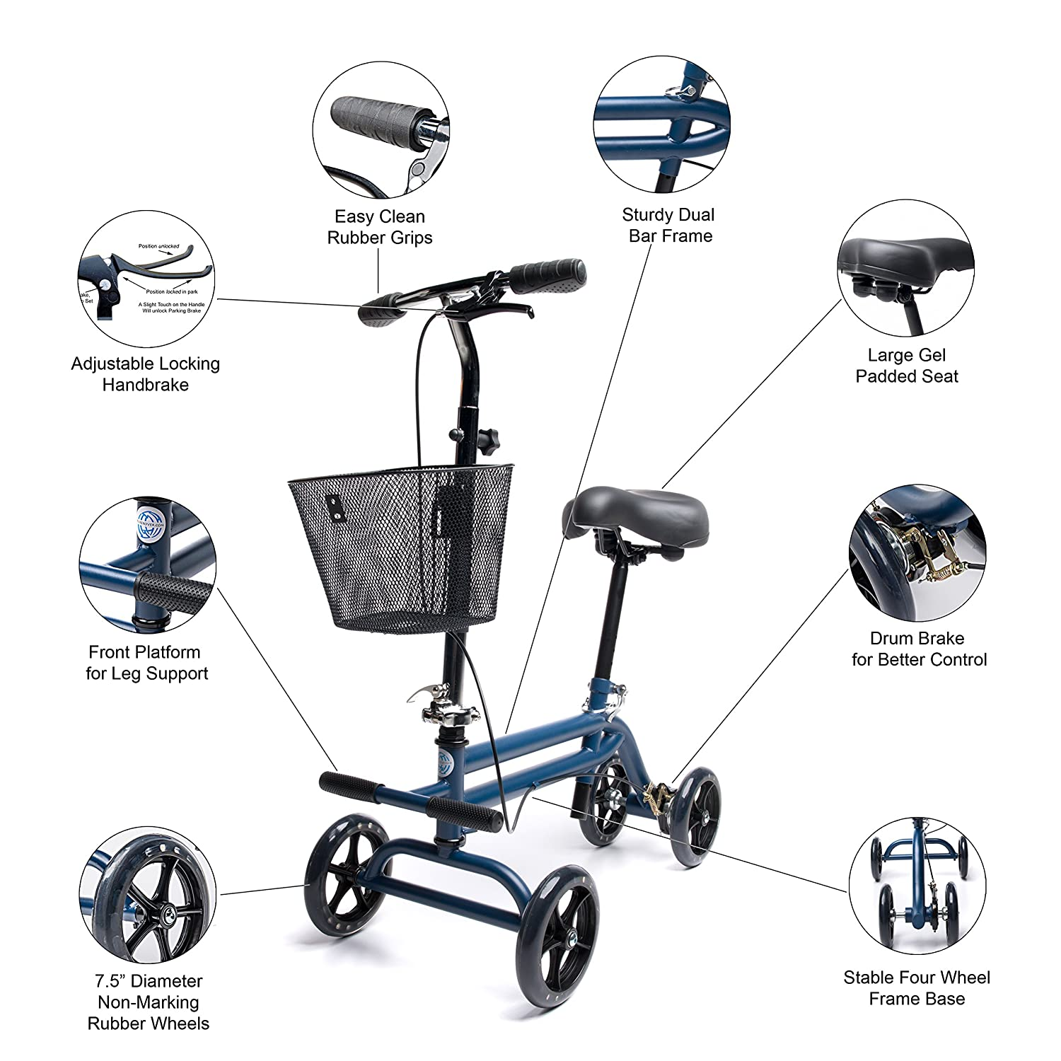 Amazon.com: Evolution orientable Seated – Patinete Scooter ...