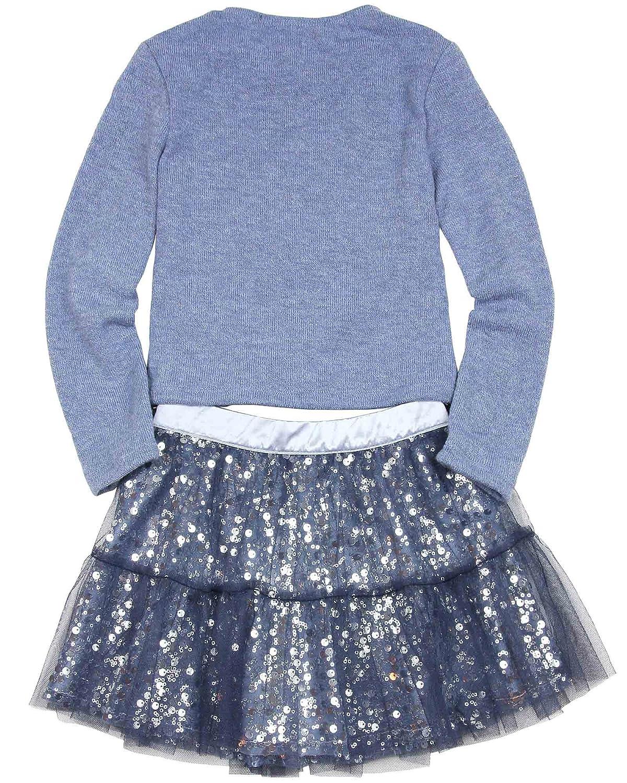 Kate Mack Biscotti Girls Graceful Glam Sweater and Skirt Set Blue Sizes 4-10