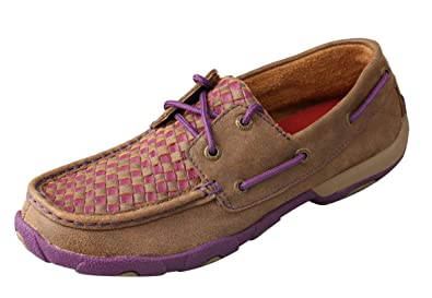 Twisted X Womens Driving Moccasins Bomber/Purple - Retro-Inspired Casual Outdoor Footwear 5.5