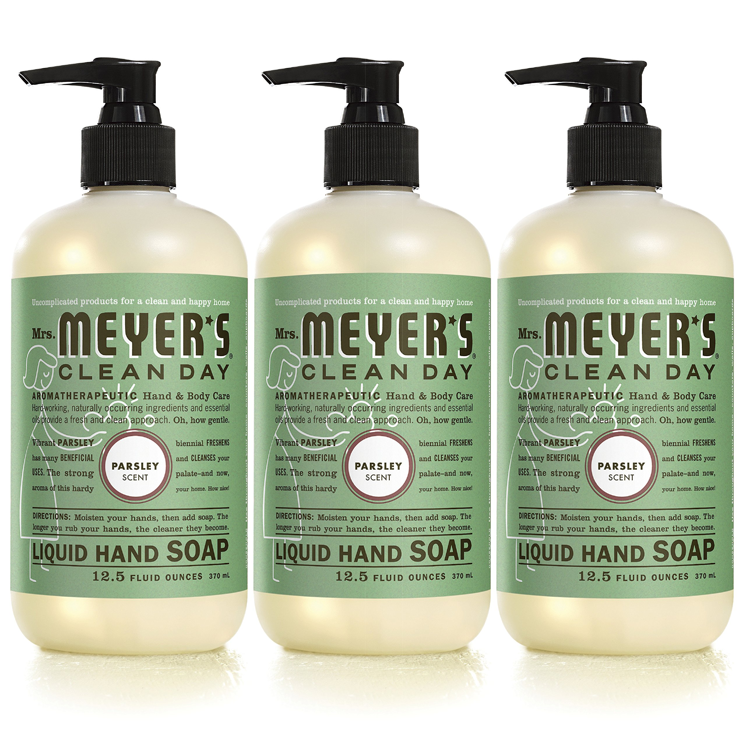 Mrs Meyers Parsley Liquid Hand Soap,12.5 fl oz (Pack of 3) by Mrs. Meyer's Clean Day