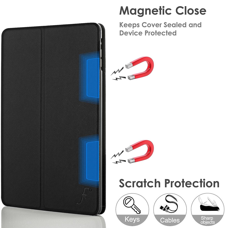 Forefront Cases/® Apple iPad Air Ultra D/ünn mit Rundum-Ger/äteschutz und intelligente Auto Schlaf//Wach Funktion 1st Generation 2013 ROT H/ülle Schutzh/ülle Tasche Smart Case Cover Stand
