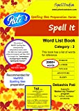 Spell It - Category 3 - Prepare for MaRRS Spelling Bee championship across levels .... For pre purchase queries whatsapp 9820354672 ... do read Product Description here at amazon