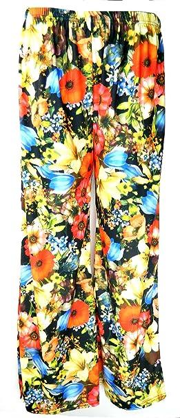 31aa3e8b3e314 Fashion Oasis Women's Standard & Plus Plain & Floral Print Palazzo 16-18  Orange Blue