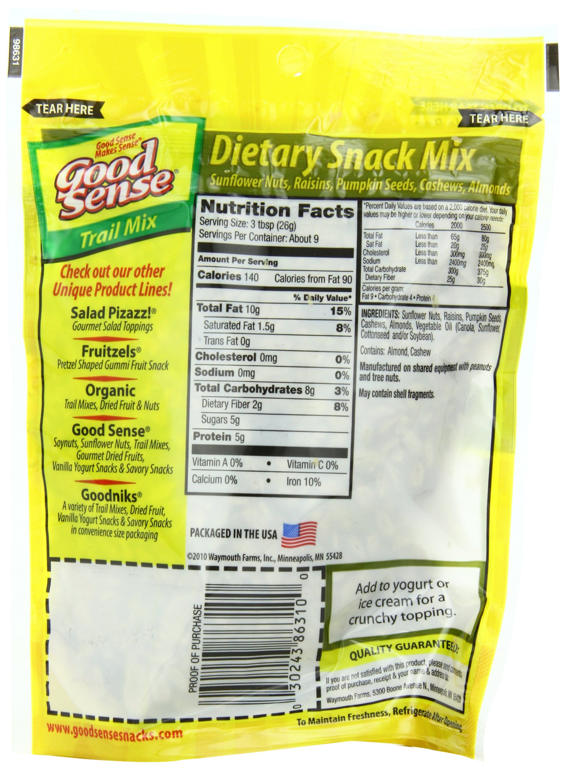 Good Sense Trail Mix, Dietary Snack Mix, 8-Ounce Bags (Pack of 12) by Good Sense (Image #4)