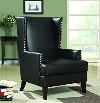 Coaster Home Furnishings 902078 Traditional Accent Chair, Black