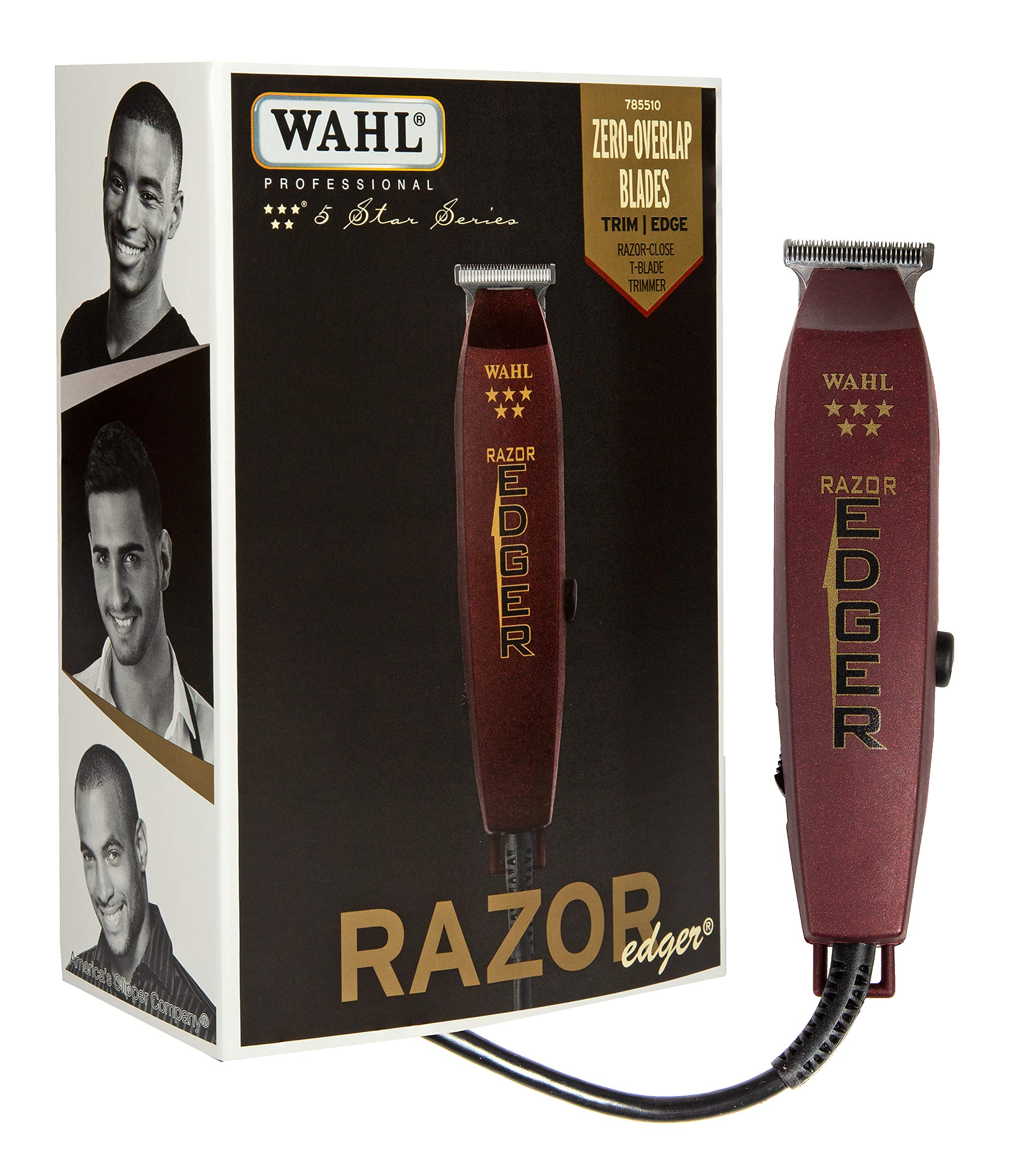 Wahl Professional 5-Star Razor Edger #8051 - Great for Barbers and Stylists - Razor Close Trimming and Edging - No Heat Build Up - Strong Electromagnetic Motor - Accessories Included by Wahl Professional