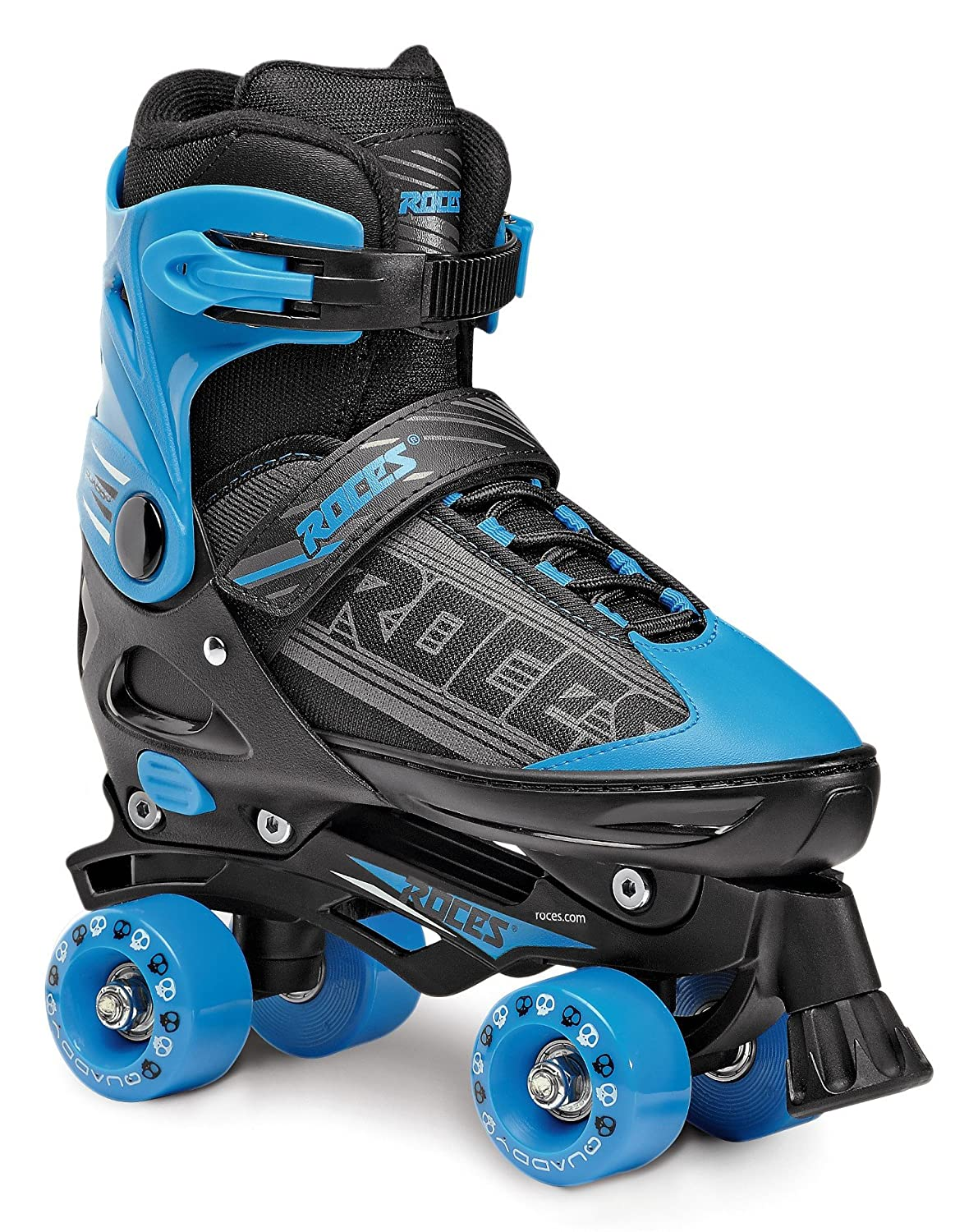 US 10jr-12jr Roces 550046 Mens Model Quaddy 1.0 Roller Skate Black//Blue