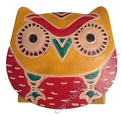 Monedero de Piel Pintada a Mano Original Wide Eyed diseño de ...