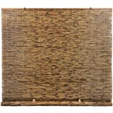 Radiance Cord Free, Roll-up Reed Shade, Natural, 48 x 72, Cocoa