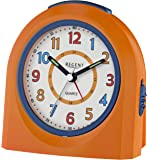 Regent 40-921-9 Wecker Kunststoff Analog Licht Alarm orange leise Sekunde