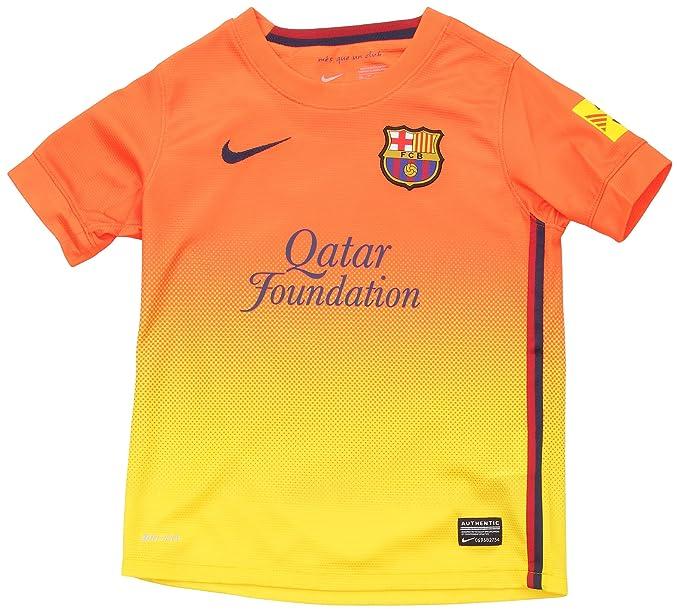 Nike F.C. Barcelona - Camiseta de fútbol infantil, 2ª equipación, 2012-13,
