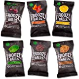 Frooze Balls Plant Powered Clean Energy Balls Variety Pack | Gluten Free | Vegan Snacks | Non GMO - Try all six delicious flavors