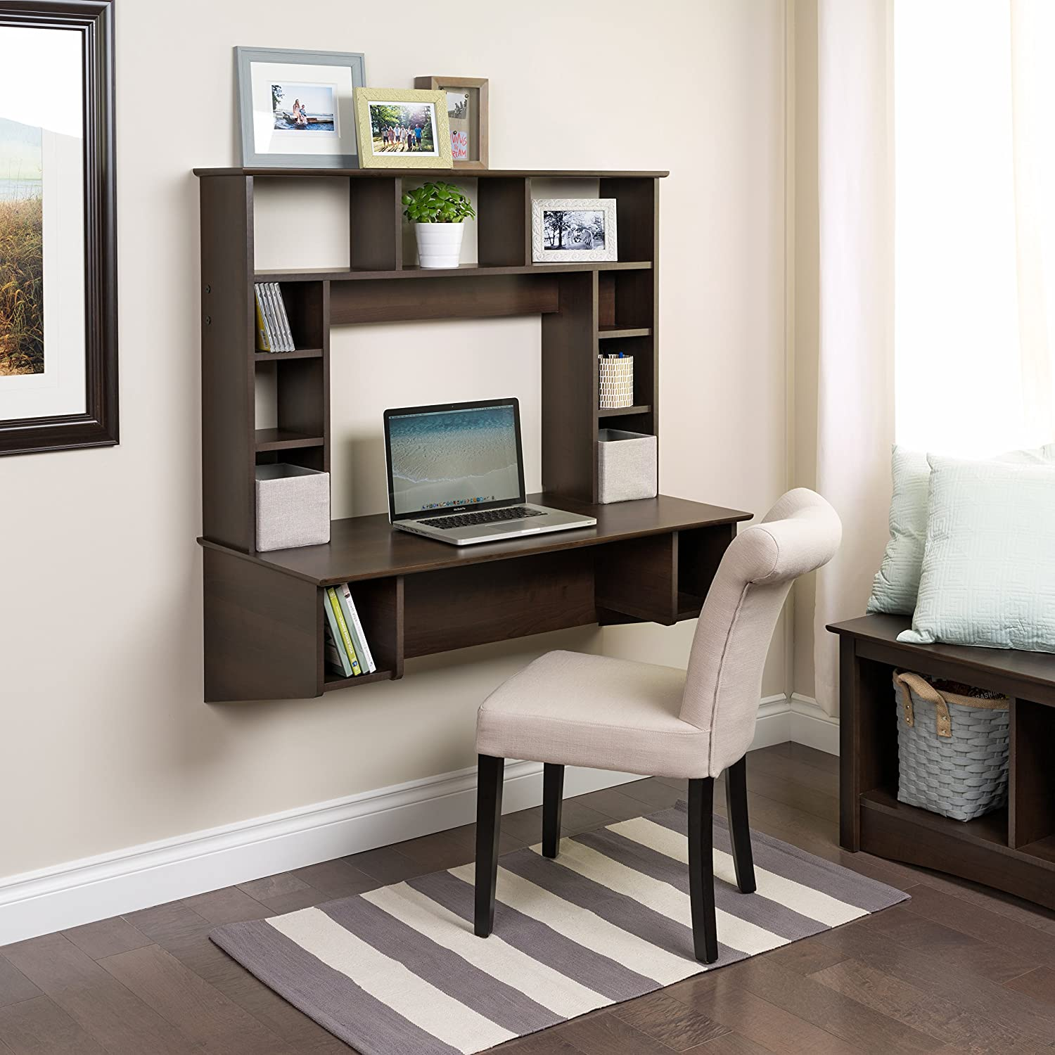 small home office try a standing floating wall desk - standing floating wall desk in small home office