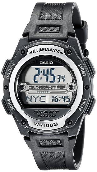 Casio W756-1AV W756-1AVCR - Reloj para hombres, correa de resina