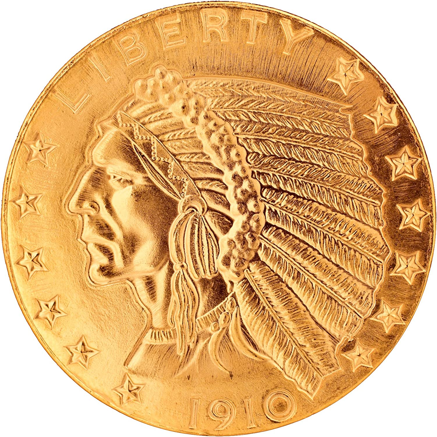 $5 Indian Head Gold Piece 1908-1929 Replica Coin Tribute to Americas Most Beautiful Coins