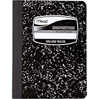 Mead Square -  Notebook, 100 hojas,Wide Ruled, Black, 1 Pack